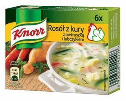 Picture of BULION KNORR Z KURY Z PIETRUSZKA I LUBCZYKIEM 60G (3L) KOSTKA 6szt.