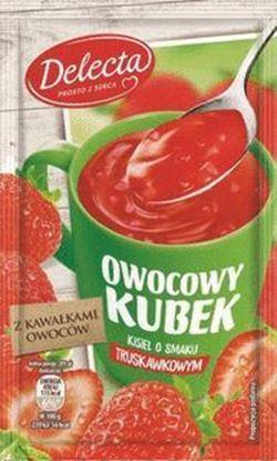 Picture of KISIEL OWOCOWY KUBEK TRUSKAWKA Z KAWALKAMI OWOCOW 30G DELECTA