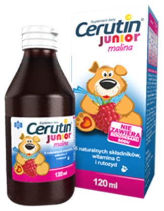 Picture of Cerutin Junior malina, syrop, 120 ml