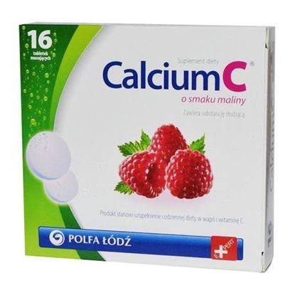 Picture of Calcium C polfa, smak malinowy, 16 tabletek musujących