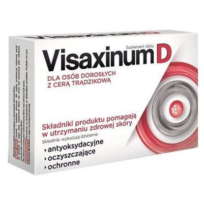 Picture of Visaxinum D dla osób dorosłych z cerą trądzikową, 30 tabletek powlekanych