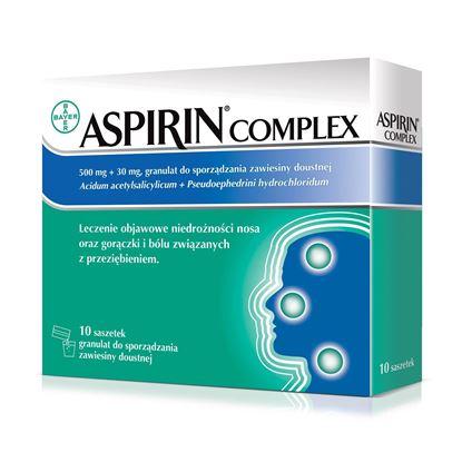 Picture of Aspirin Complex, 500 mg + 30 mg, granulat, zawiesina doustna, 10 saszetek
