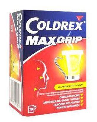 Picture of Coldrex MaxGrip o smaku cytrynowym 10 saszetek