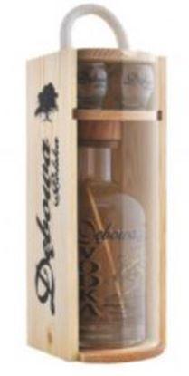 Picture of Debowa Sosnowe Pudelko 700ml + 2x kieliszki Drew pine box