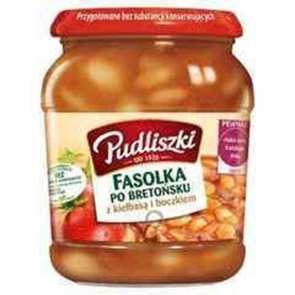 Picture of FASOLKA PO BRETONSKU Z KIELBASA i BOCZKIEM 500G PUDLISZKI