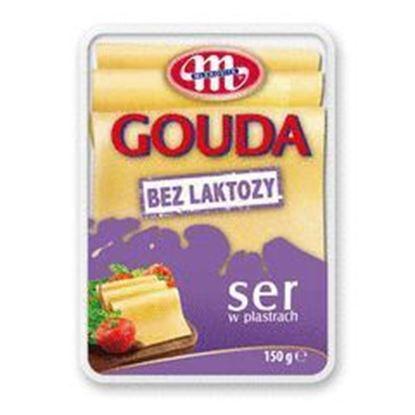 Picture of SER GOUDA BEZ LAKTOZY PLASTRY 150G MLEKOVITA