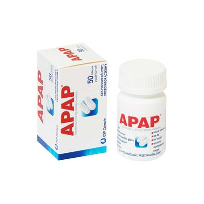 Picture of Apap 500 mg, 50 tabletek powlekanych
