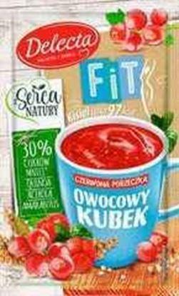 Picture of KISIEL OWOCOWY KUBEK FIT CZERWONA PORZECZKA 26G DELECTA