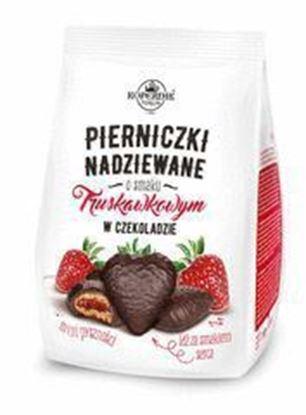 Picture of PIERNICZKI W CZEKOLADZIE Z NADZIENIEM TRUSKAWKOWYM 150G KOPERNIK