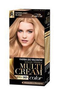 Picture of FARBA DO WLOSOW MULTI CREAM COLOR 3D 30 KARMELOWY BLOND JOANNA