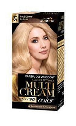 Picture of FARBA DO WLOSOW MULTI CREAM COLOR 3D 31 PIASKOWY BLOND JOANNA