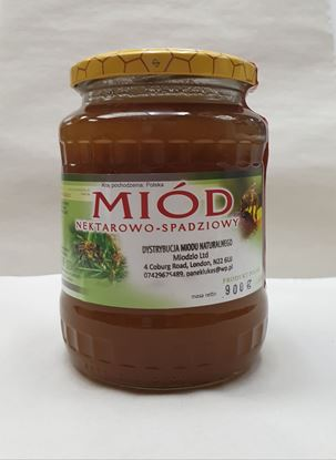 Picture of MIOD 900G (Z WLASNEJ PASIEKI) NEKTAROWO-SPADZIOWY MIODZIO