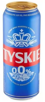 Picture of PIWO TYSKIE 0% PUSZKA 500ML KOMP PIWOWARSKA