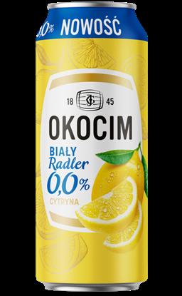 Picture of PIWO OKOCIM RADLER BIALY 0% CYTRYNA PUSZKA 500ML